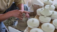View of making Cheongsong white porcelain