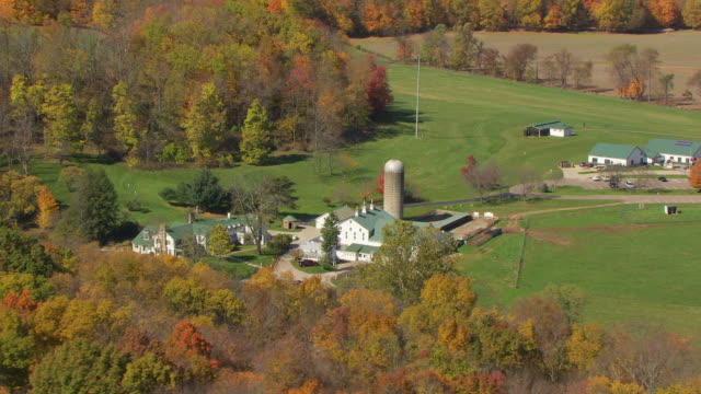 WS TS ZO AERIAL View of Malabar Farm in Richland County / Mansfield, Ohio, United States