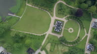 WS AERIAL ZI View of Manor House in Fureso Park / Sjaelland, Denmark