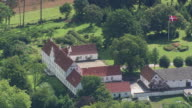 WS AERIAL ZI ZO View of Manor Houses near Logten / Arhus, Denmark