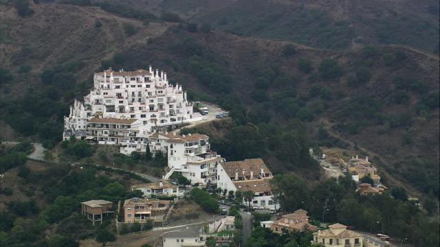 WS ZI ZO AERIAL View of Marbella / Estepona, Andalusia, Spain