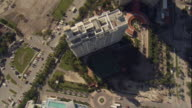 WS POV AERIAL View of marina and skyscrapers / Miami, Florida, USA