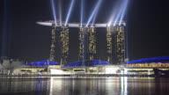 WS View of Marina Bay Sands Hotel Light Show/ Marina Bay, Singapore