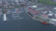 WS AERIAL ZO View of marina / Hobart, Tasmania