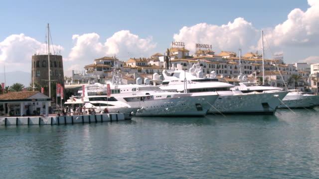 WS View of Marinas in Puerto Banus / Marbella, Costa del Sol, Andalusia, Spain