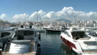 WS View of Marinas in Puerto Banus / Marbella, Costa del Sol, Andalusia, Spain
