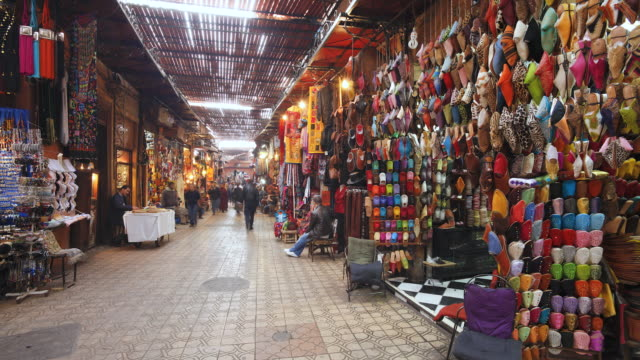 MS T/L View of market place / Marrakech, Morocco