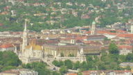 WS AERIAL View of Matthias church / Budapest, Hungary