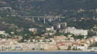 WS AERIAL View of Menton / Provence Alpes Cote d'Azur, France