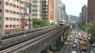 View of metro train transportation in Taipei Taiwan