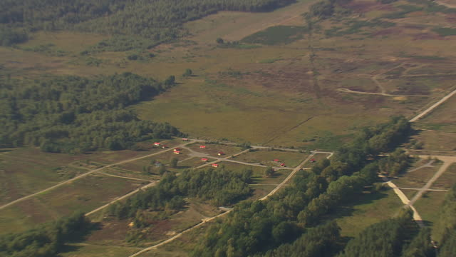 WS AERIAL ZI View of military training camp with landscape / Germany
