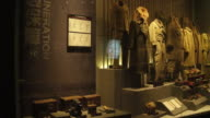 A view of military uniforms of Unit 731 in the Exhibition Hall Of Crime Evidence Of Japanese Germ Factory on May 19 2017 in Harbin China This...
