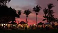 WS View of Mindil beach sunset market at sunset / Darwin, Northern Territory, Australia