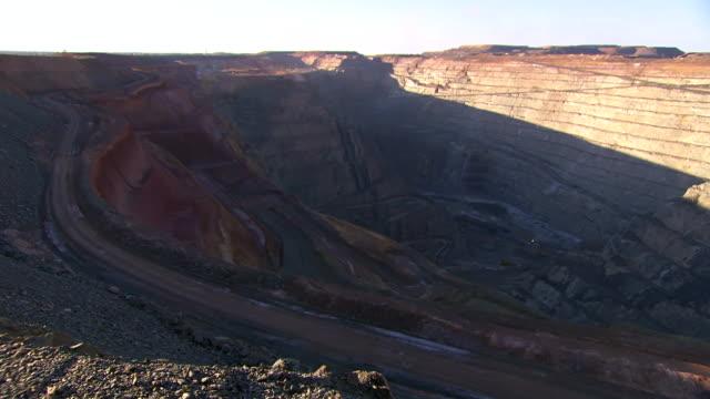 WS HA SLO MO View of Mine / Coolgardie and Kalgoorlie, Western Australia, Australia