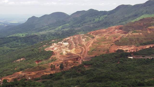 WS AERIAL View of mining / Minas Gerais, Brazil
