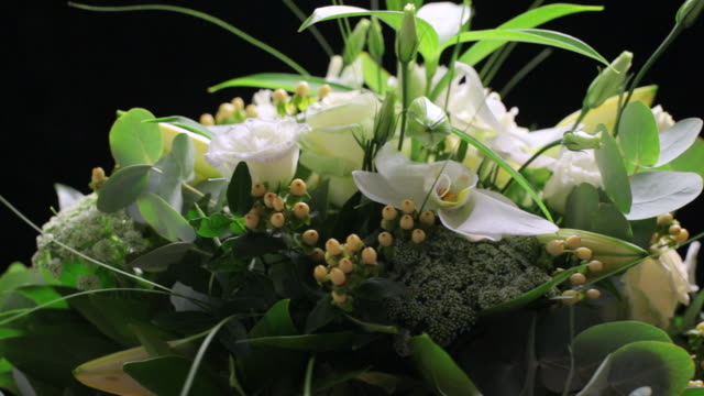 MS CU  View of Mixed bouquet of white flowers  / London, United Kingdom