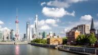 T/L WS PAN View of Modern Shanghai / Shanghai, China