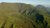 WS AERIAL View of mount waialeale on island of Kauai / Hawaii, United States