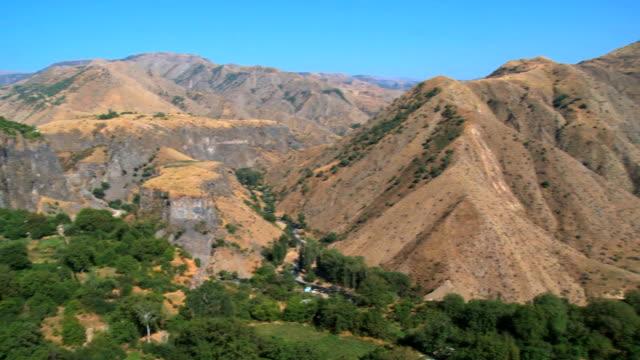 WS View of mountain landscape / Garni, Armenia