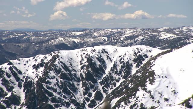 WS PAN View of Mountains / Snowy Mountains, New South Wales, Australia