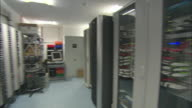 WS PAN View of  multiple server racks and various types of data / Sanlucar la Mayor, Seville, Spain