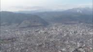 AERIAL WS View of Nagano city / Nagano, Japan