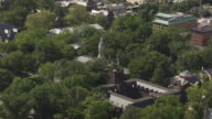 MS AERIAL ZO View of Nassau Hall to Princeton University / Princeton, New Jersey, United States
