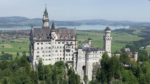 WS  View of Neuschwanstein Castle / Hohenschwangau, Bavaria, Germany