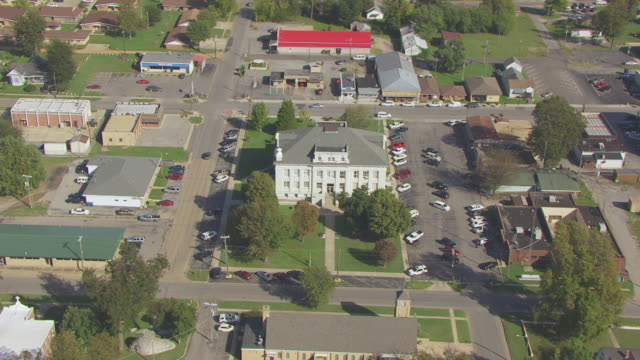 WS AERIAL TS View of New Madrid County Courthouse / New Madrid, Missouri, United States