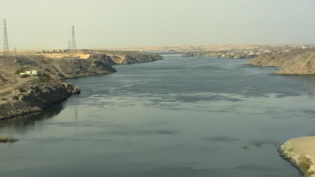 ZO, WS, HA, View of Nile River from Aswan Dam, Aswan, Egypt