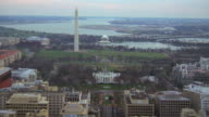 WS AERIAL View of north lawn of white house / Washington D.C., United States