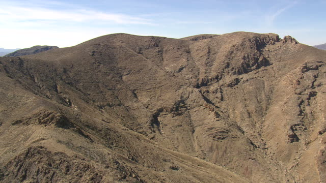 WS AERIAL View of North Mesquite Mountains Wilderness area / California, United States