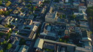 WS POV AERIAL View of oblique pass over French Quarter / New Orleans, Louisiana, USA