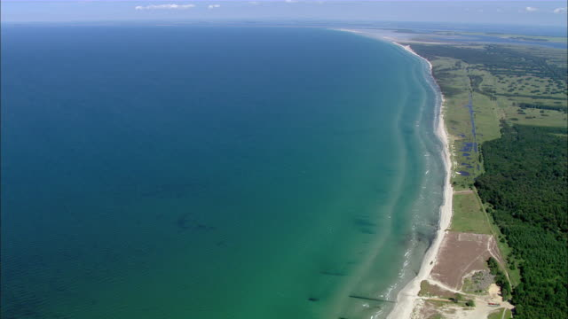 AERAIL WS View of oceanscape / Prerow+Kirr, Mecklenburg-Vorpommern, Germany