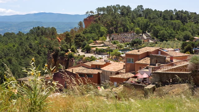 WS View of Ocre Village / Roussillon, Provence, France