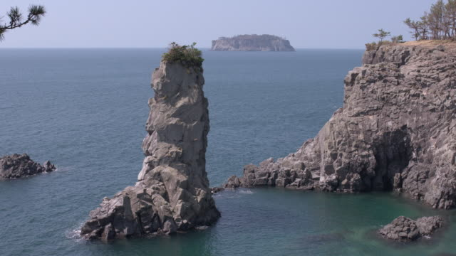 View of Oedolgae (Popular tourist attraction for Scenic spot) and surrounding seascape