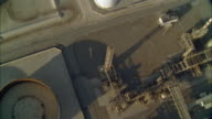 WS POV AERIAL View of oil refinery
