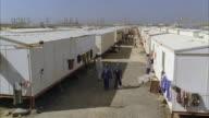 WS View of oil worker barracks
