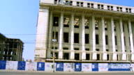 MS PAN View of Old historic abandoned building / Bucharest, Romania
