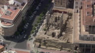 WS POV AERIAL View of old roman temple / Cordoba, Andalusia, Spain