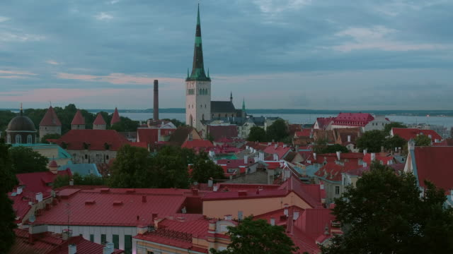 View of Old Town Tallinn from Toompea Hill