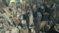 WS AERIAL View of Orbit Chrysler Building and surrounding buildings in Turtle Bay in Manhattan / New York, United States