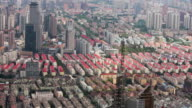 WS HA View of organized rows of housing complex in Pudong financial district / Shanghai,  China