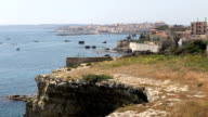 View of Ortygia, Siracusa in Italy, from Northern Coast