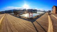 Ansicht des Osloer Rathaus mit Hafen / Oslo, Norwegen