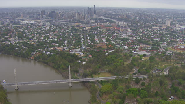 WS AERIAL View of paddling on sea with Eureka Tower city  / Melbourne, Victoria, Australia