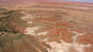 WS AERIAL TD DS View of Painted Desert at Tiponi point / Arizona, United States