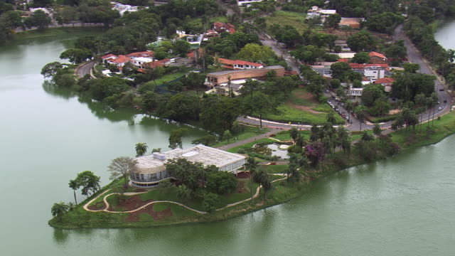 WS AERIAL View of Pampulha Art Museum / Minas Gerais, Brazil