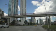 View of Panama City by car