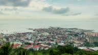 WS T/L View of panama city el chorillo old district in morning / Panama
